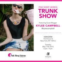 Pink Sheep Heiress Trunk Show May 17