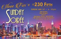 Sunday Soiree May 15th 230 Fifth